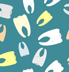 Colored teeth background Seamless pattern dentist vector image