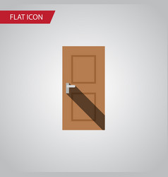 isolated door flat icon entrance element vector image