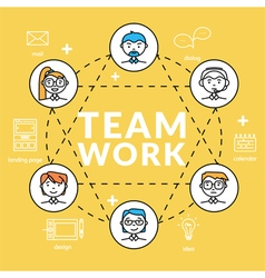 Teamwork concepts of team vector image vector image