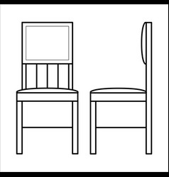 chair home furniture lineart design interior vector image