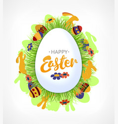 element for design easter eggs in green vector image vector image