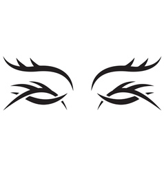 Gothic pattern eyes vector image