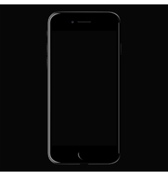 Realistic black mobile iphone 7 with blank screen vector image vector image