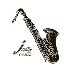 saxophone jazz legend vector image
