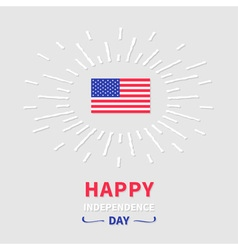 Shining american flag Independence day vector image