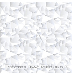 White crystal abstract background vector image vector image
