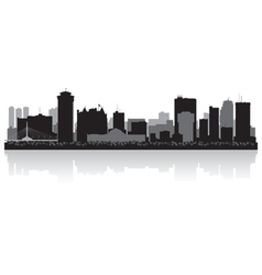 Winnipeg Canada city skyline silhouette vector image vector image