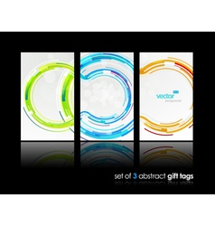 3 abstract gift cards vector image vector image