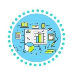Data Analysis Icon Flat Design vector image vector image