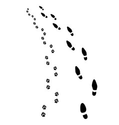 footprints turn left vector image vector image