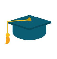 gaduation cap education symbol vector image