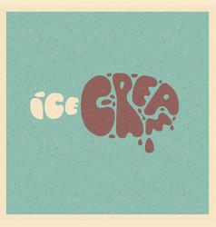 ice cream stylized image vector image