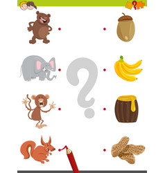 match pictures educational activity vector image