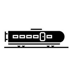 train modern icon black sign vector image