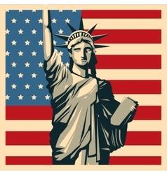 USA design American icon Flat vector image vector image