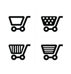 4 styles shopping cart icons vector