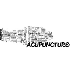 Acupuncture can help treat migraines text word vector