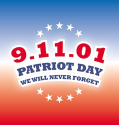 America patriot day - september 11 2001 banner vector
