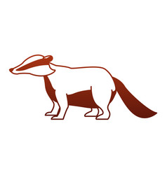 Anteater wild animal on red lines vector