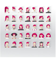 avatar female red hair human faces social network vector image