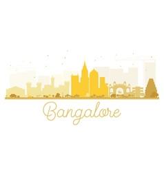 Bangalore City skyline golden silhouette vector