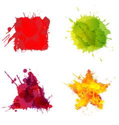 basic geometric shapes made colorful splashes vector image