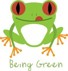 Being Green vector