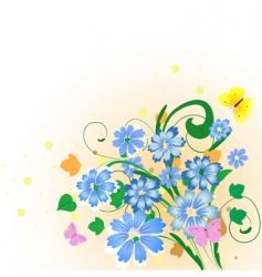 bouquet of cornflowers vector image