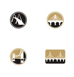 Bridge logo design set collection vector