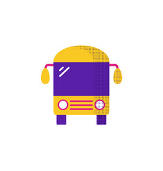 bus icon flat bus icon for vector image