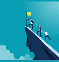 Business concept teamwork and leadership vector