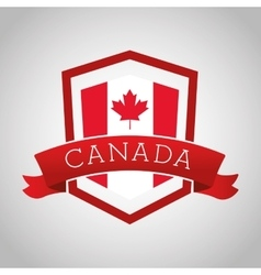 Canadas County design Maple leaf icon Shield vector image