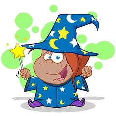 Cartoon wizards casting spells vector