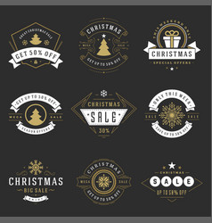 christmas sale badges badges and tags design vector image