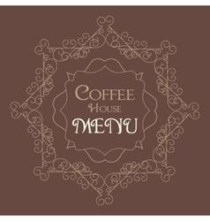 coffee retro design wit florish border vector image