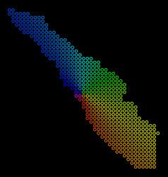 Colored dot sumatra island map vector
