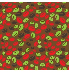 colorful seamless coffee pattern vector image