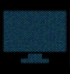 computer display mosaic icon of halftone spheres vector image