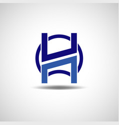 creative shape initial letter h logo sign symbol vector image