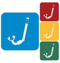 Diving snorkel icon vector