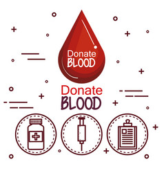 donating blood design vector image