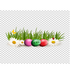 Easter clip art for greeting card with dyed eggs vector