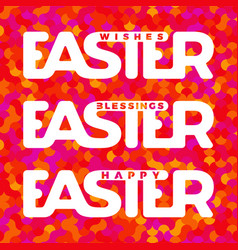 Easter typography card vector