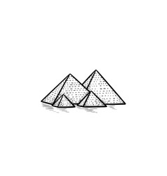 egypt pyramids hand drawn outline doodle icon vector image