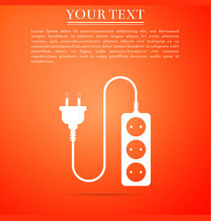 electric extension cord icon power plug socket vector image