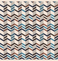 Fashion chevron pattern in brown retro colors vector image