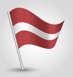 Flag latvia vector
