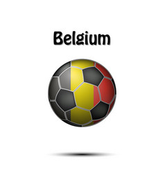 Flag of belgium in the form of a soccer ball vector