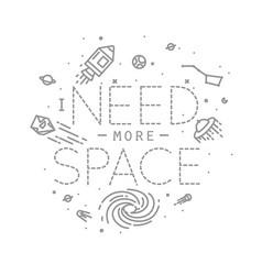 flat more space monogram vector image