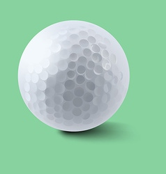 Golf ball on green background vector image